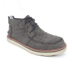 Toms Gray Brushed Wool Chukka Ankle Boots
